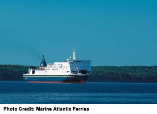 Marine Atlantic connects Sydney, Nova Scotia with two ports in Newfoundland