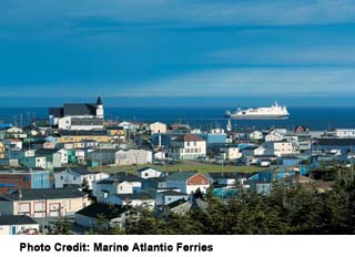 Marine Atlantic Ferries' MV Lief Ericson leaving port