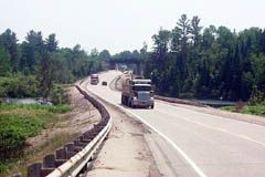 Highway 17 west of mattawa