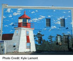 Murals of Midland - Lighthouse Mural