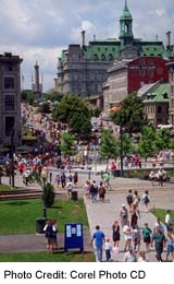 View of Montreal's Place Jacques Cartier