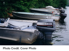 Motorboats along the Trent-Severn