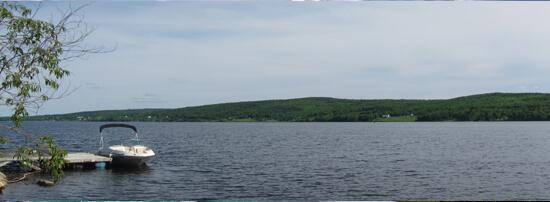 The Saint John River dominates the stretch from Grand Falls to Fredericton