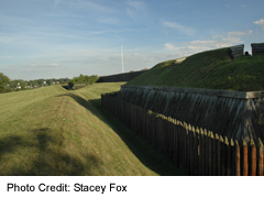 Fort George in Niagara on the Lake, Ditch defences