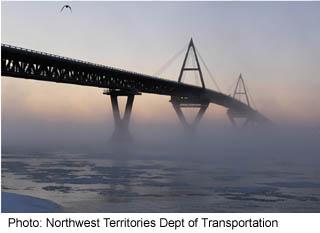 Deh Cho Bridge over the Mackenzie River