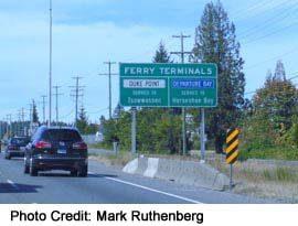 Duke Point & Departure Bay Ferries Sign
