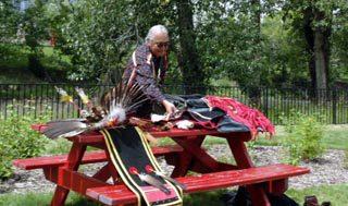 Native Elder at Calgary Stampede Native Village