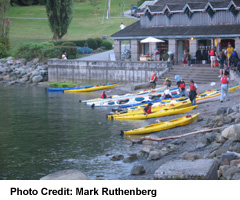 Deep Cove attracts water sports enthusiasts