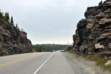 Rock cut in northern Ontario
