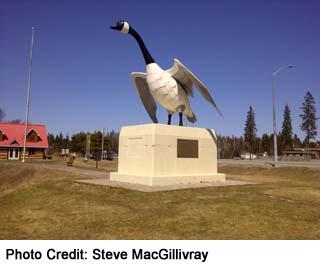 Wawa Goose, statue near TCH