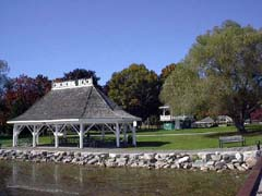 View of Plake Couchiching Park in Orillia