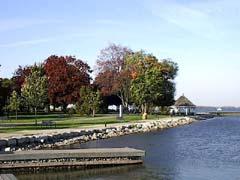 Lakeshore parks at Orillia