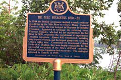 plaque honouring voyageurs along Ottawa River
