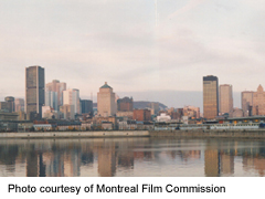Montreal downtown, viewed from across St Lawrence