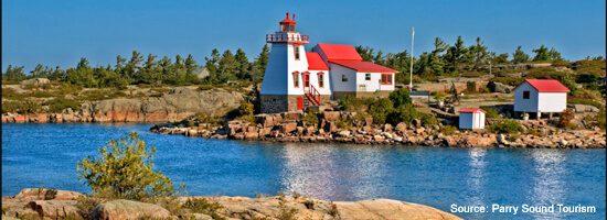 Lighthouse on Lake Huron, near Parry Sound