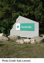 wenda Provincial Park sign