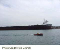 Ship entering the Welland Canal at Port Colborne