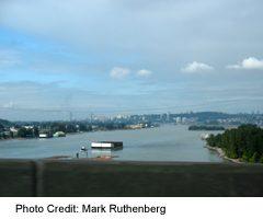 TCH Highway 1 Over Port Mann Bridge Over Fraser River