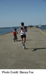 runner on Port Dalhousie Pier