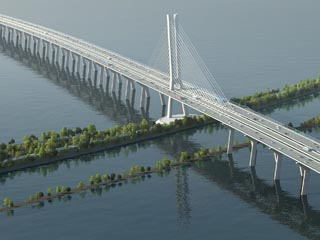 New Champlain Bridge over the St Lawrence