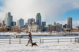 Montreal's Lachine Canal in winter