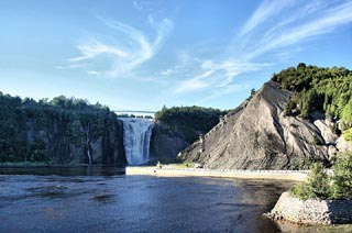 Montmorency Falls, just northeast of Quebec City