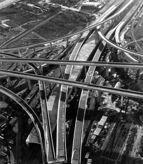 University Interchange under construction
