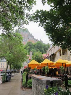 View of Chateau Frontenac from Lower Town