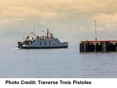 Ferry across the St Lawrence River
