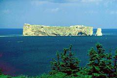 Perce Rock at the tip of the Gaspe Peninsula