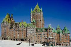 Quebec City's Chateau Frontenac in Winter