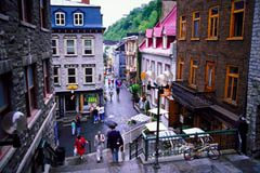Quebec City's Old Town is a major tourist attraction