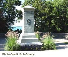 Laura Secord monument at Queenston Heights