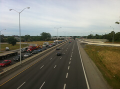 Ottawa's Queensway, the 417 through the city