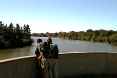 Harrington Dam near downtown holds back Wascana Lake
