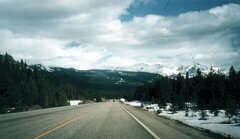 Mount Hector, viewed from Highway 93, looking East