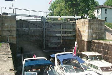 Rideau Canal Locks with pleaseure boats