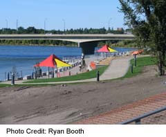 Saskatoon Riversdale's River Landing park