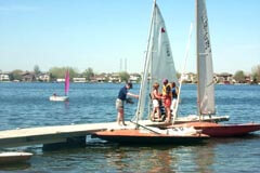Sailboats at the Calgary Yacht CLub onLake Chestermere