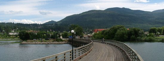 Salmon Arm view from Town Wharf