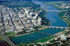 Aerial View of Saskatoon