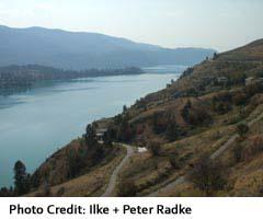 Kamloops Lake, seen from Savona
