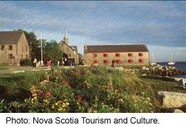 The seaside town of Shelburne, Nova Scotia