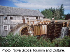 Restored water mill at Sherbrooke, Nova Scotia