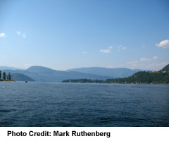Blind Bay, view to Copper Island on Shuswap Lake