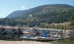 Sicamous's famous houseboats