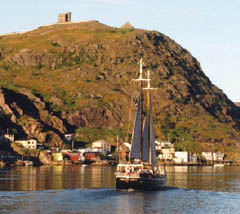 Signal Hill in St John's viewed from the water