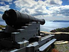 Signal Hill Cannon overlooking St John's