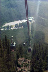 View of Sulfur Mountain Gondola's base, while on way up in the morning