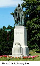 William Hamilton Merritt Statue, downtown St Catharines